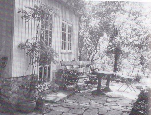 An outdoor room designed by Edna Walling