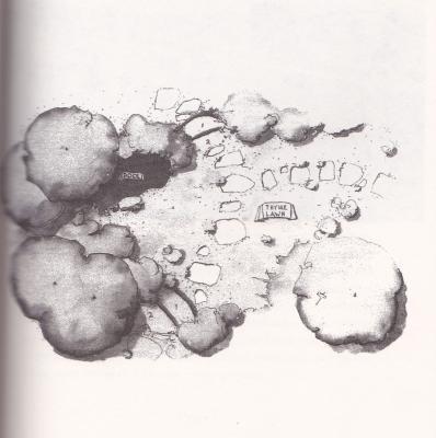 A simple sketch of a garden design